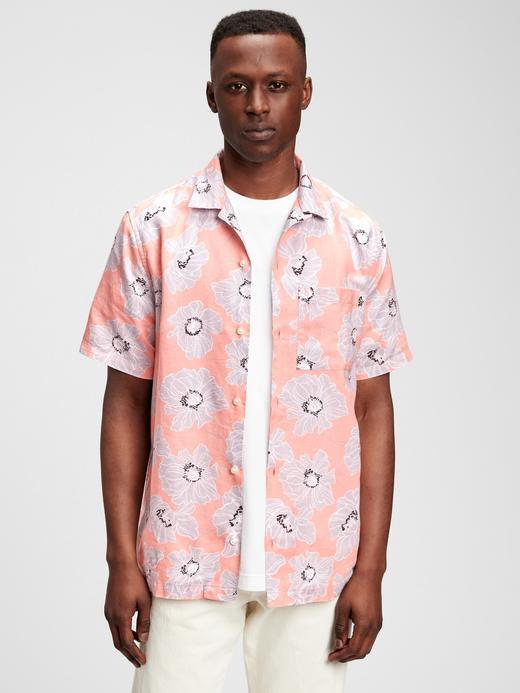 Erkek Pembe Desenli Gömlek