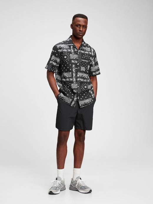 Erkek Siyah Desenli Gömlek