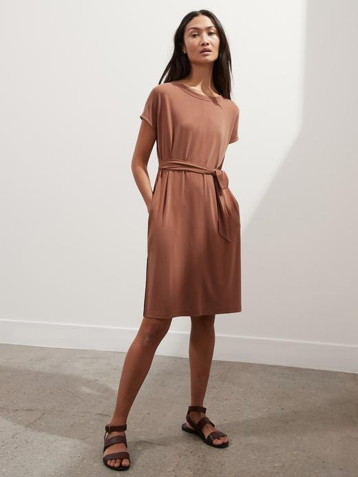 Kadın Pembe Sandwash Elbise