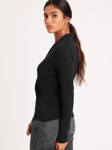 Kadın beyaz Threadsoft Kruvaze Bluz