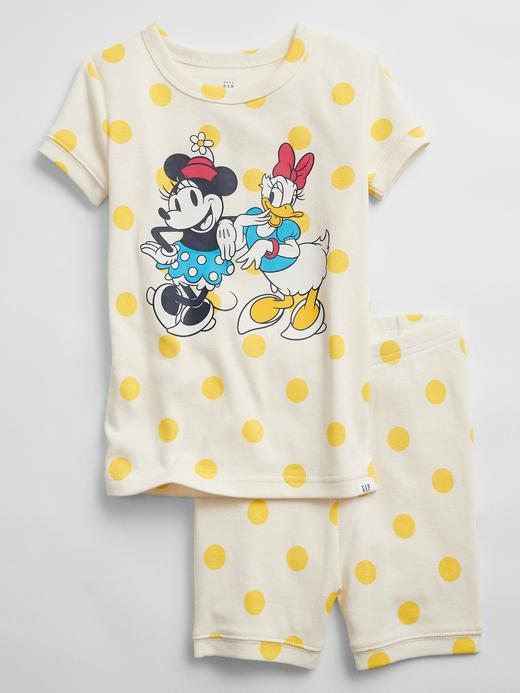 Kız Bebek Sarı Disney Mickey Mouse Pijama Takımı
