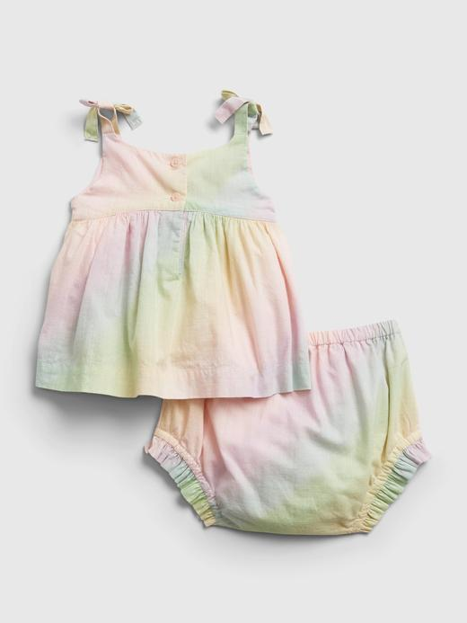 Kız Bebek Çok Renkli Gökkuşağı Desenli Elbise