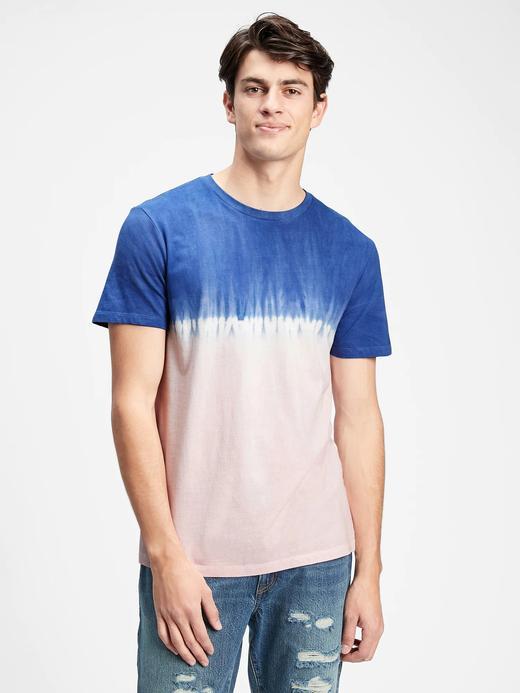 Erkek Pembe Tie-Dye T-Shirt