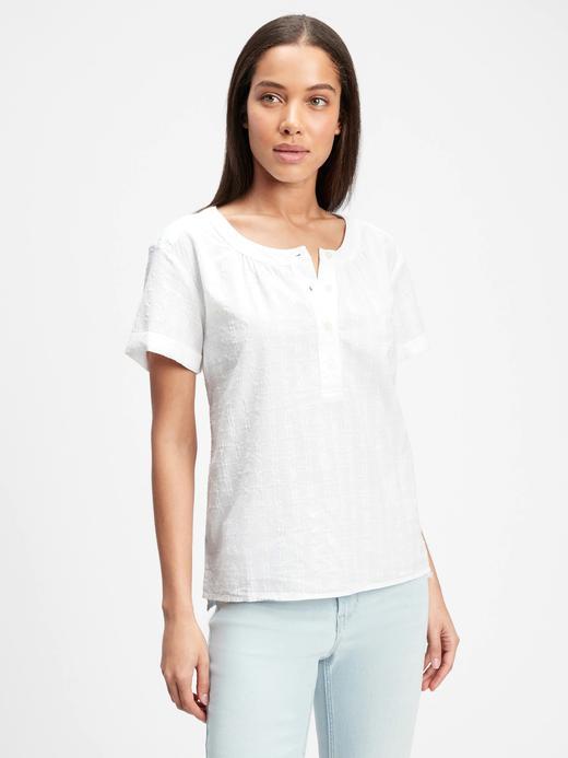 Kadın Beyaz Çizgili Bluz