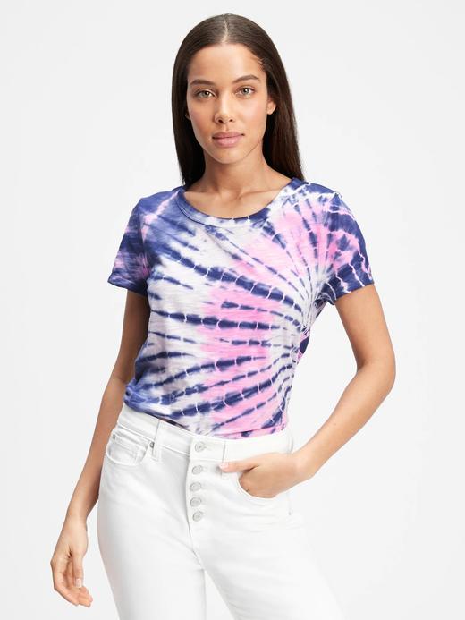 Kadın Lacivert Tie-Dye T-Shirt