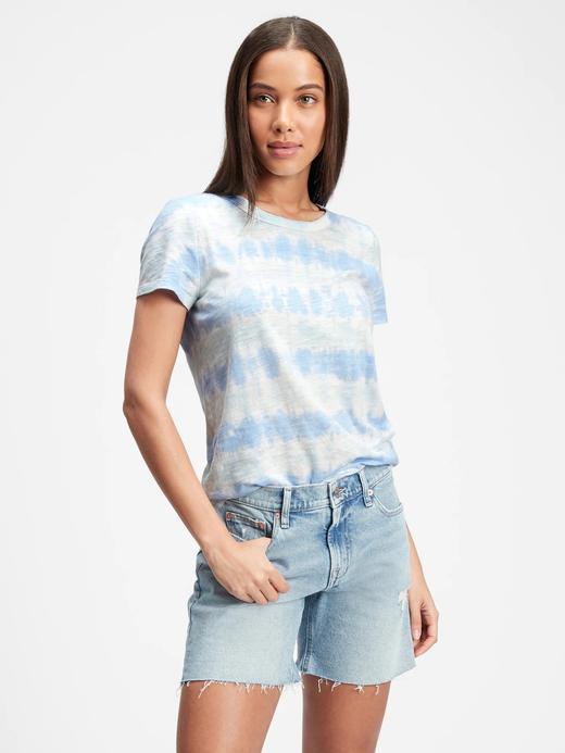 Kadın Mavi Tie-Dye T-Shirt