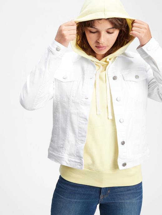 Kadın Beyaz Denim Washwell™ Ceket