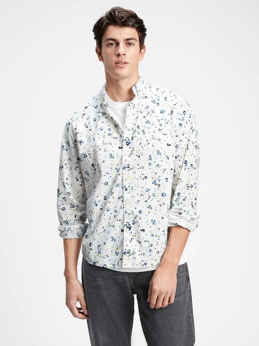 Erkek Beyaz Poplin Fit Gömlek