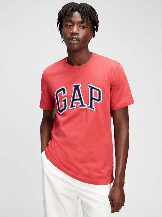 Erkek Pembe Gap Logo Kısa Kollu T-Shirt