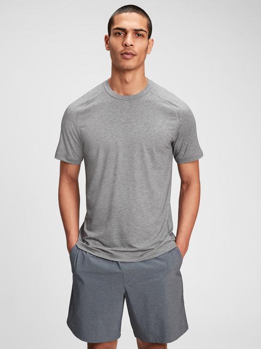 Erkek Gri GapFit Active T-Shirt