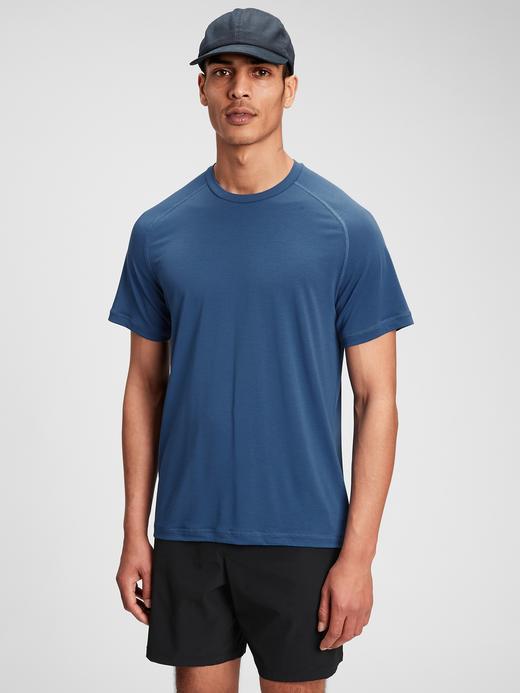Erkek Mavi GapFit Active T-Shirt