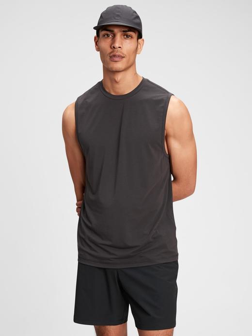 Erkek Siyah Gapfit Active T-Shirt