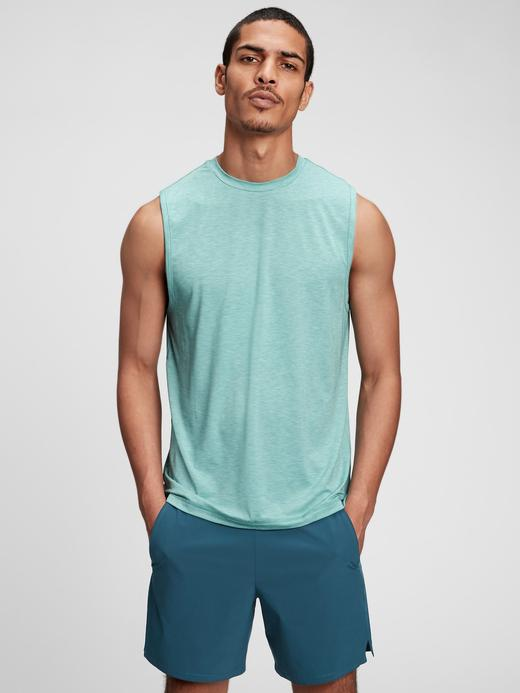 Erkek Yeşil Gapfit Active T-Shirt