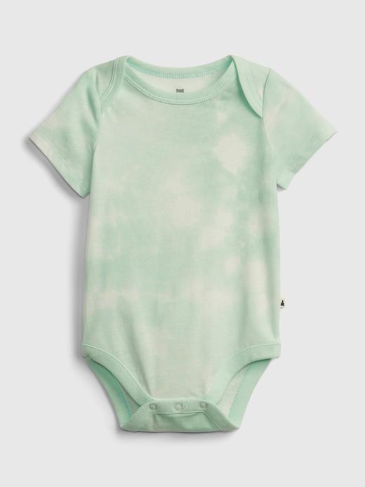 Erkek Bebek Yeşil Organik Pamuklu Bodysuit