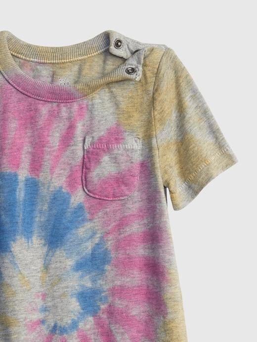 Erkek Bebek Gri Tie-Dye Tulum