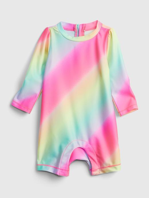 Kız Bebek Çok Renkli Desenli Mayo