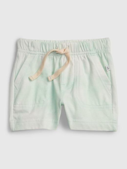 Erkek Bebek Yeşil %100 Organik Pamuklu Pull On Şort