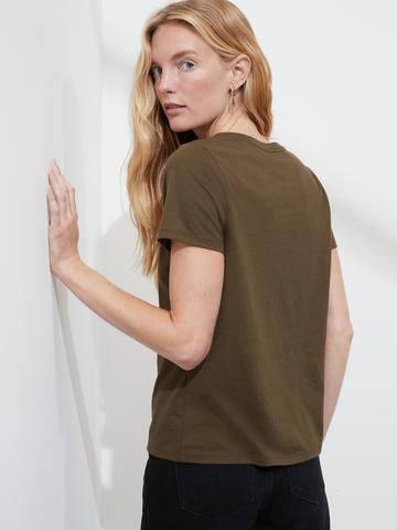 Kadın Pembe SUPIMA® Yuvarlak Yaka T-Shirt