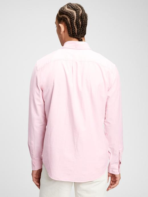 Erkek Lacivert Standart Fit Oxford Gömlek