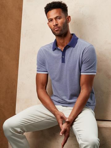 Erkek Mor Core Temp Pique Polo Yaka T-Shirt