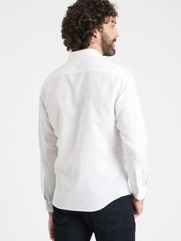 Erkek Lila Untucked Slim-Fit Gömlek