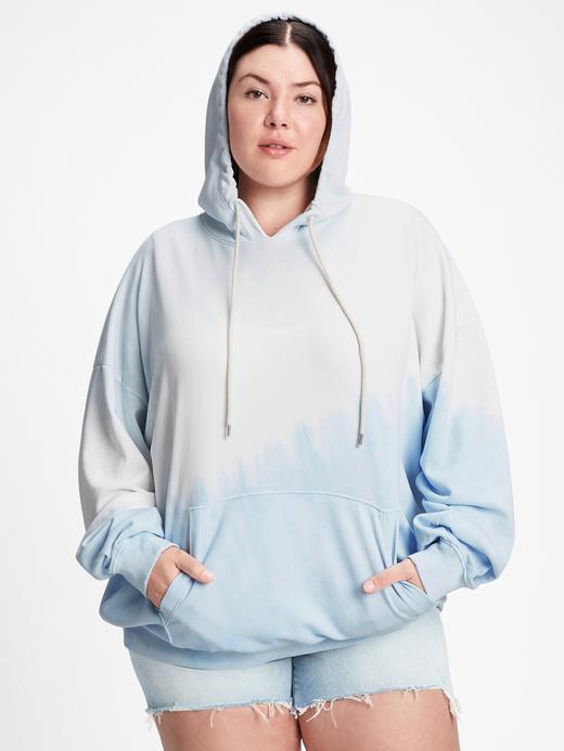 Kadın Mavi Oversize Boyfriend Sweatshirt