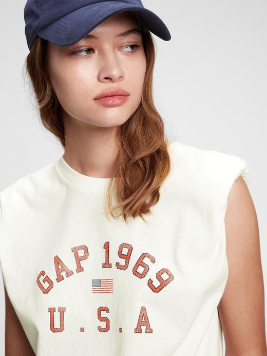 Kadın Beyaz Gap Logo T-Shirt
