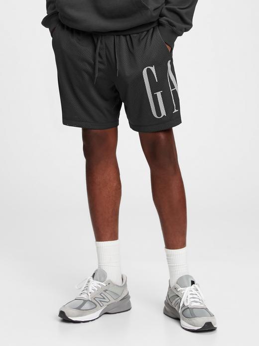 Erkek Siyah Gap Logo Sporcu Şortu