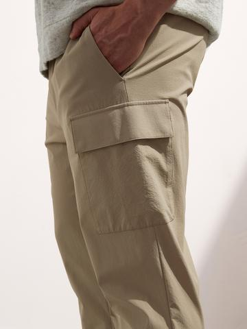 Erkek Haki Performans Streç Kargo Jogger Pantolon