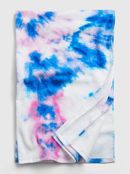 Kız Çocuk Mor Çocuk Tie-Dye Havlu