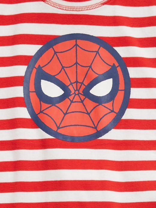 Erkek Çocuk Kırmızı Marvel Spider-Man %100 Organik Pijama Seti