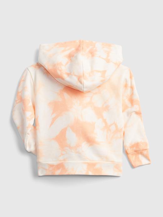 Kız Bebek Turuncu Gap Logo Tie Dye Kapüşonlu Eşofman Üst