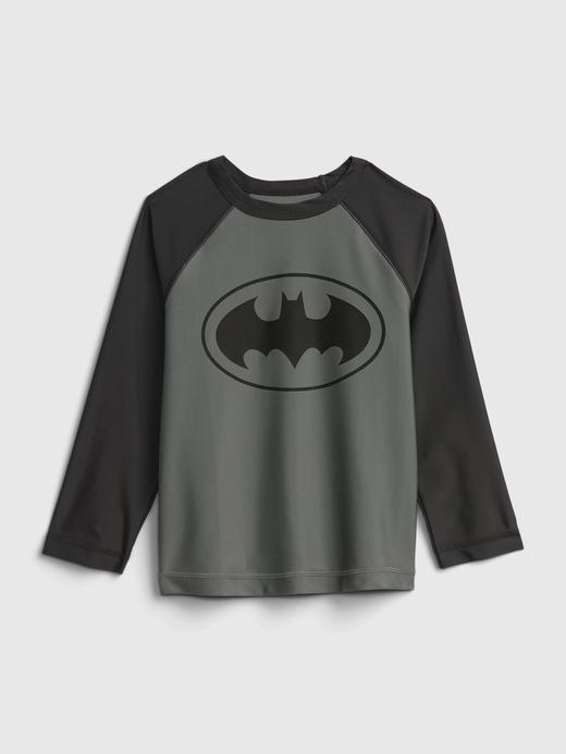 Erkek Bebek Gri Batman Geridönüştürülmüş Koruyucu Mayo