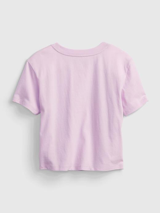 Kız Çocuk Kırmızı Grafik T-Shirt