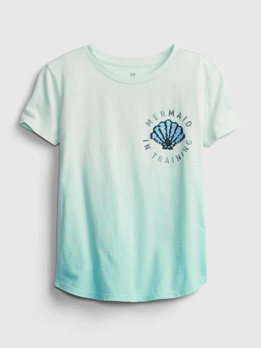 Kız Çocuk Çok Renkli %100 Organik Pamuklu İnteraktif T-Shirt