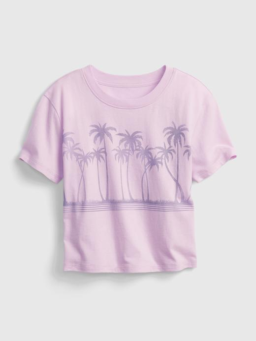 Kız Çocuk Mor Grafik T-Shirt