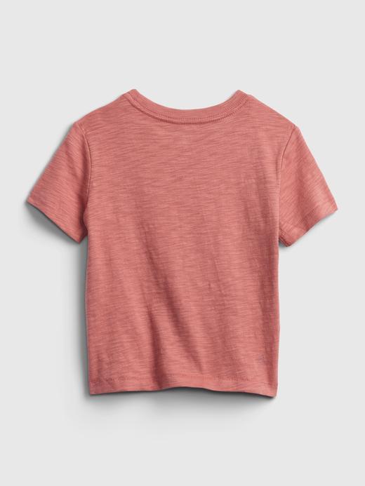 Erkek Bebek Turuncu Marvel Hologram Grafik T-Shirt