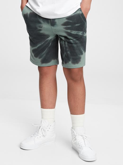 Erkek Çocuk Yeşil Genç Erkek Tie-Dye Şort