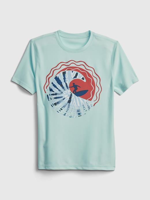 Erkek Çocuk Mavi Geri Dönüştürülmüş Koruyucu T-Shirt