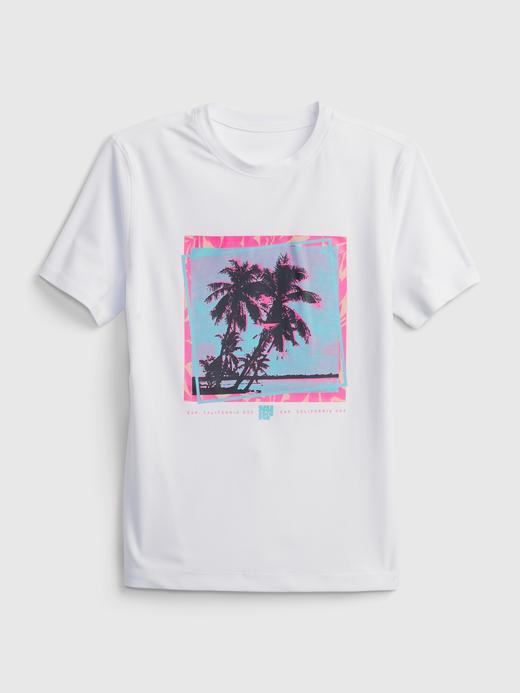Erkek Çocuk Beyaz Geri Dönüştürülmüş Koruyucu T-Shirt