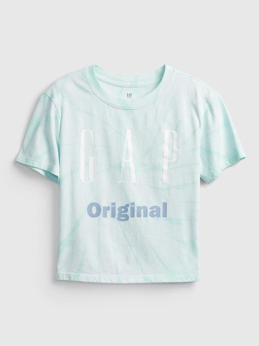 Kız Çocuk Yeşil Gap Logo T-Shirt