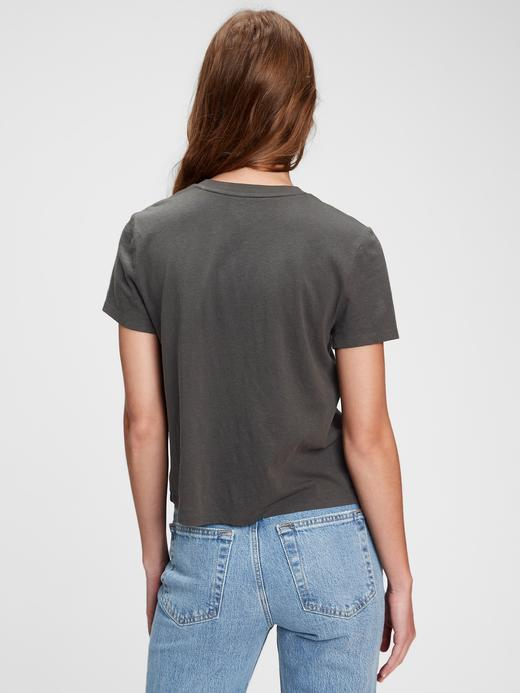 Kadın Siyah Disney Mickey Mouse T-Shirt