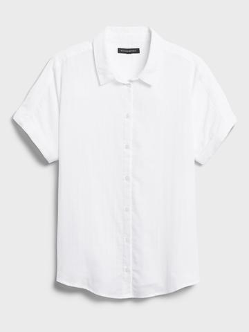 Kadın Siyah Kısa Kollu Gömlek