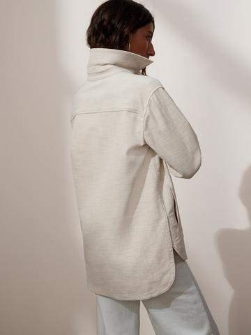 Kadın Bej Canvas Ceket