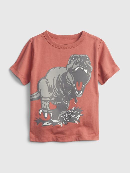 Erkek Bebek Pembe Grafik Desenli T-Shirt