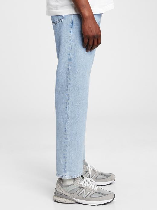 Erkek Mavi GapFlex  Cropped Straight Jean