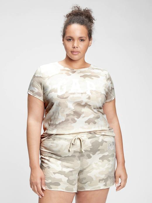 Kadın Gri Gap Logo Kısa Kollu T-Shirt