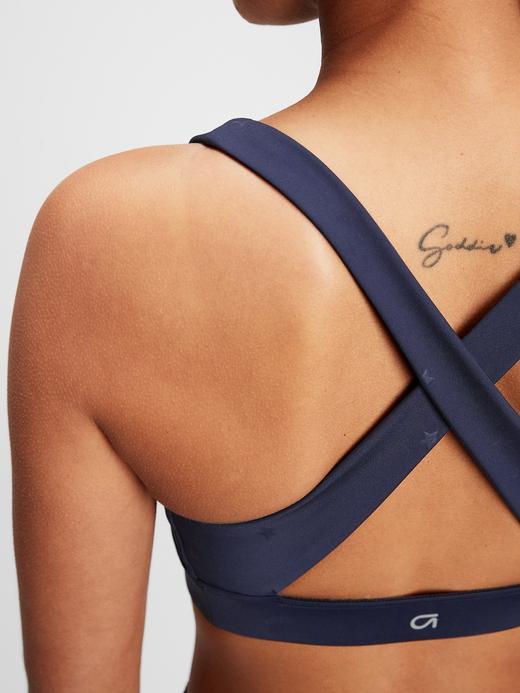 Kadın Mavi GapFit Kadın Orta Destekli Sporcu Sütyeni