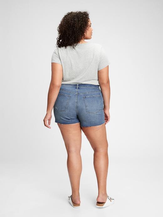 Kadın Mavi High Rise Denim Şort Washwell™