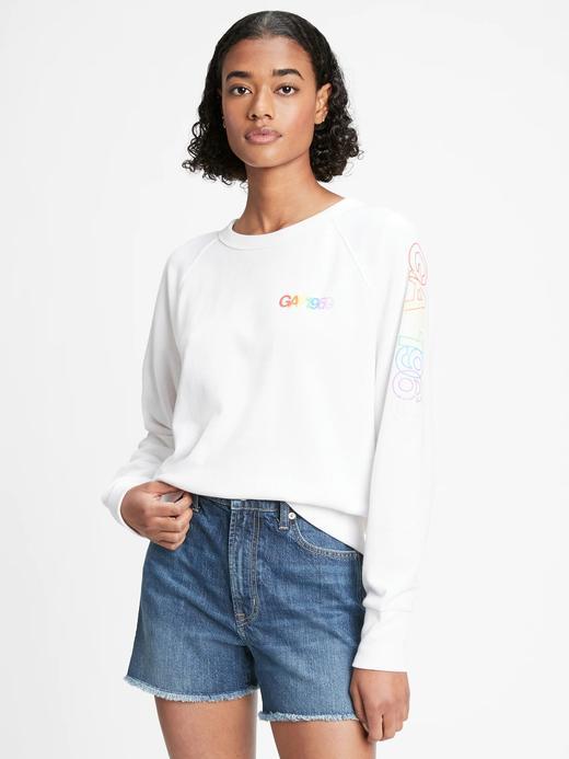 Kadın Beyaz Gap Logo  Sweatshirt